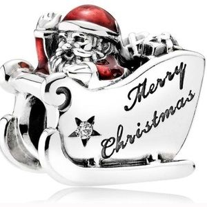 Authentic Pandora Sleighing Santa Charm